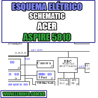 Esquema Elétrico Notebook Acer Aspire 5810 Laptop Manual de Serviço  Service Manual schematic Diagram Notebook Acer Aspire 5810 Laptop   Esquematico Notebook Placa Mãe Acer Aspire 5810 Laptop