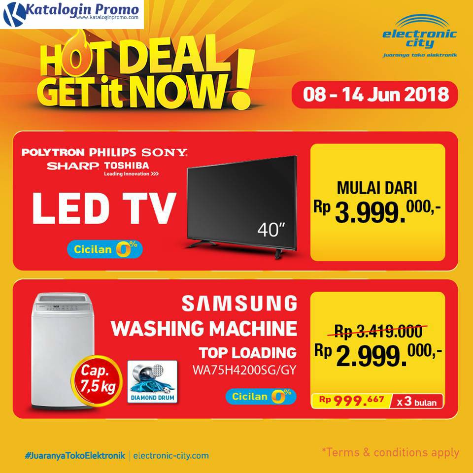 Promo Electronic City Hot Deal Terbaru Periode 8 – 14 Juni 2018
