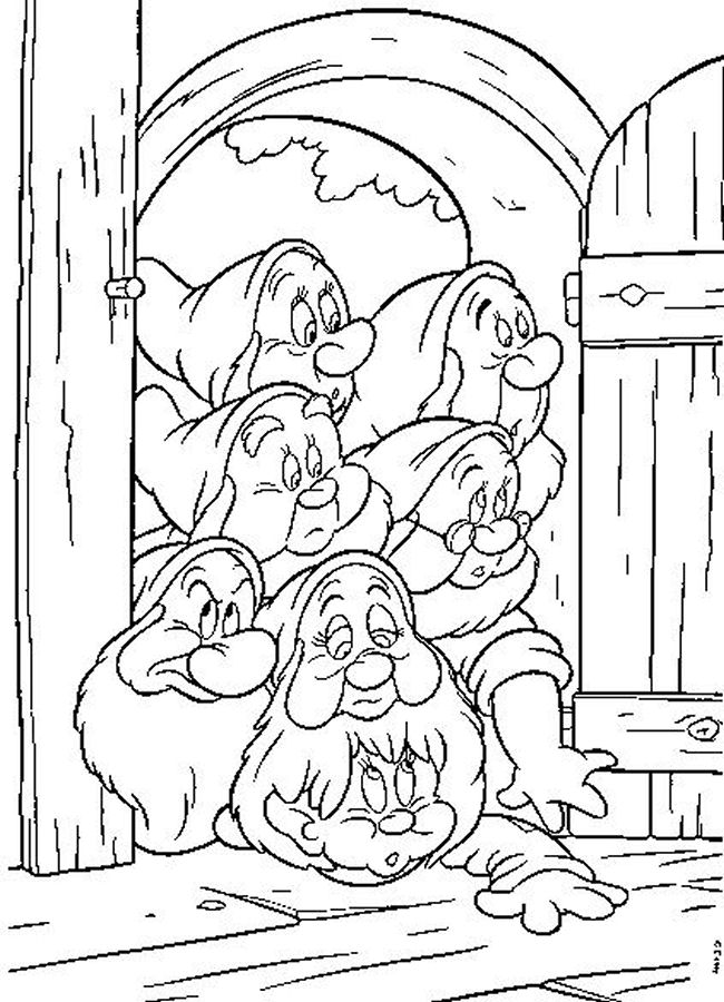 Snow white coloring pages printable for Coloring pages for snow white and the seven dwarfs