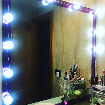 luces led hollywood, luces blancas, luces hollywood, decoración, makeuup,
