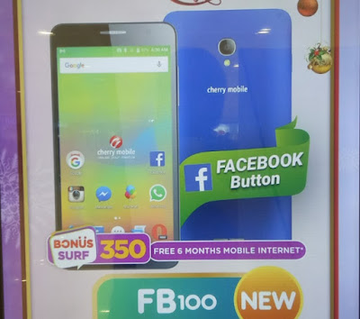 Cherry Mobile FB100; Quad Core Android M with Facebook Button for Php2,999
