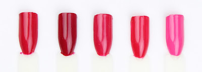 essie nail polish varnish haute in the heat plumberry fruit sangria strawberry sorbet mod square swatch swatches