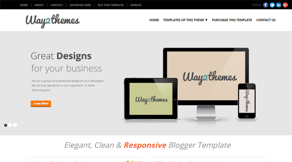 Mini-t Blogger Template