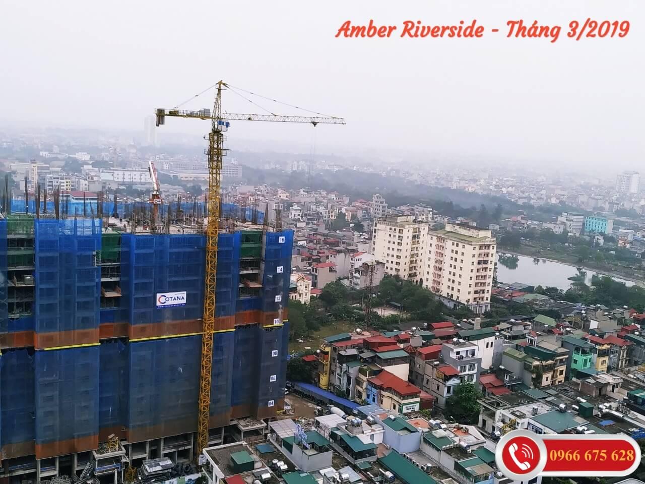 Cập nhật tiến độ xây dựng chung cư Amber Riverside ngày 24/03