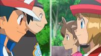 Ash y  Tierno vs Serena y Shauna