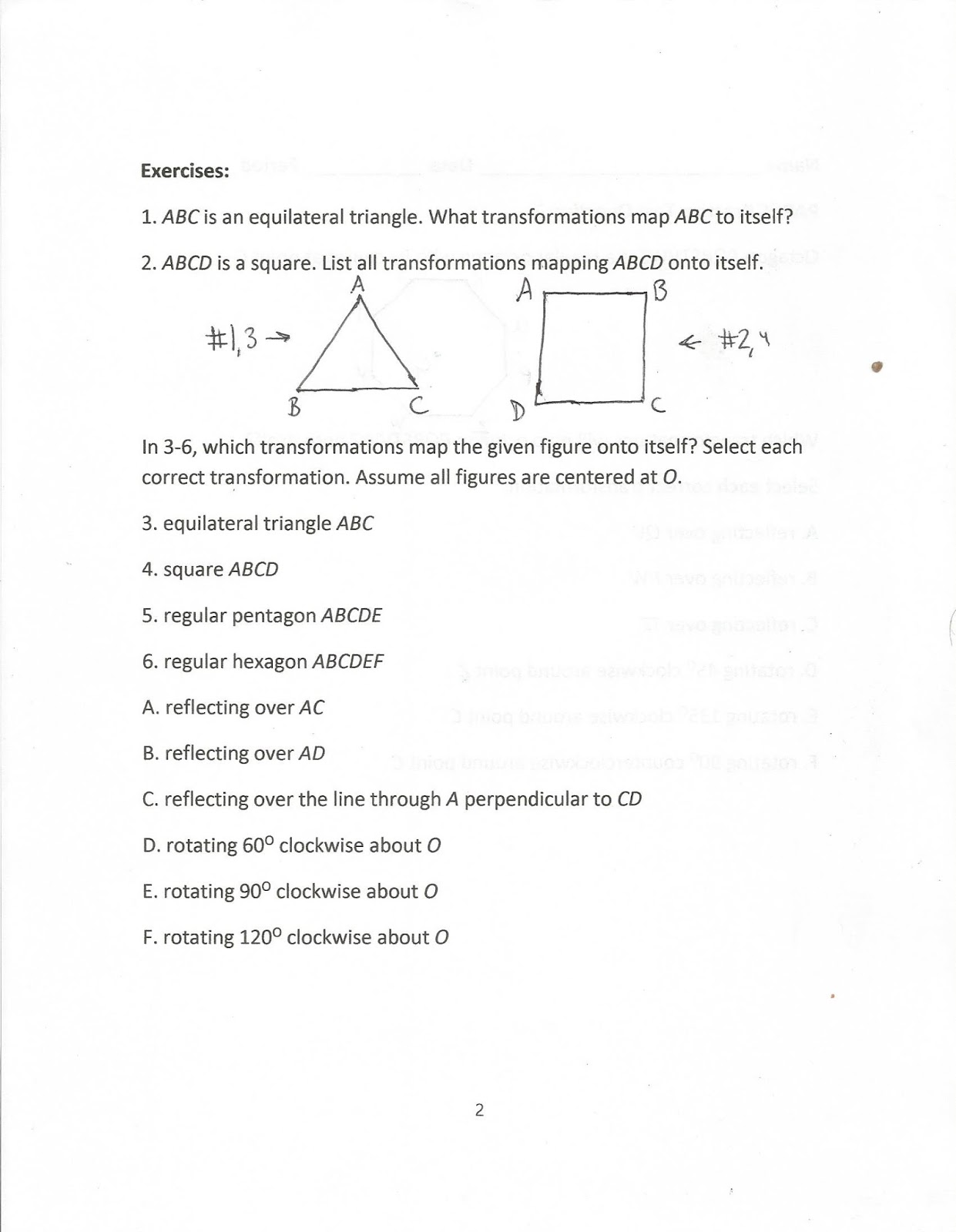 Geometry Common Core Style April