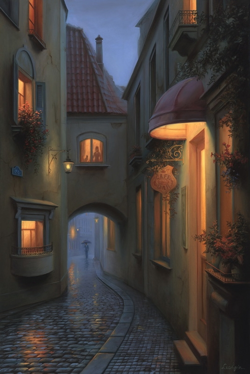 01-A Little-Story-Evgeny-Lushpin-Scenes-of-Realistic-Night-Time-Paintings-www-designstack-co