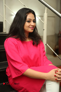 Actress Arundathi Nair Stills in Red Chididar at Bethaludu Success Meet  0096.JPG