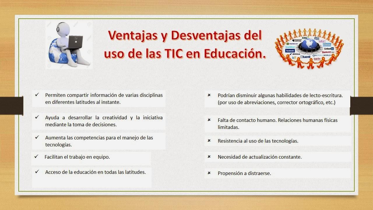 Uso De Las Tic En La Educación Ventajas Y Desventajas Del Uso De Las Tic En La Educación