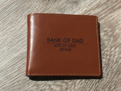 Father's Day 2017 gift guide personalised leather wallet