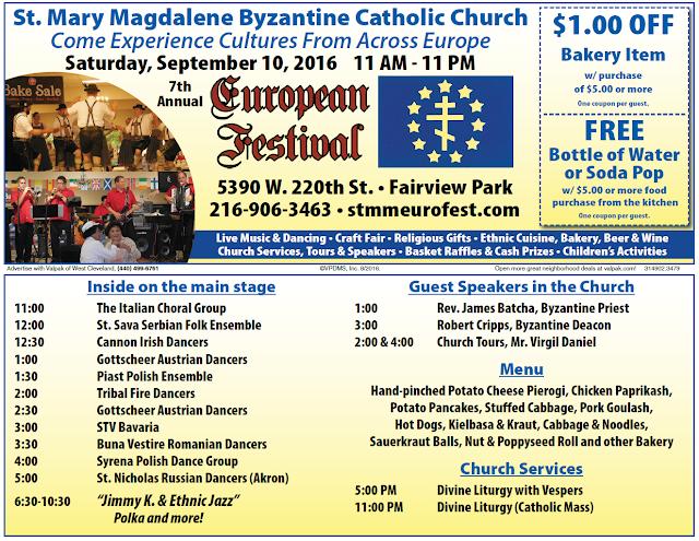 St. Mary Magdalene European Festival