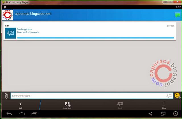 Cara tambah file gambar di chat BBM bluestacks