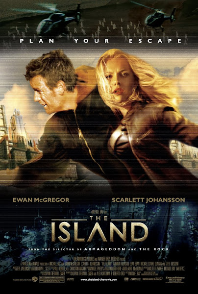 Poster of The Island 2005 720p Hindi BRRip Dual Audio Full Movie Download
