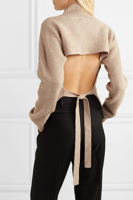 The Trendy Open-Back Sweater I'm Going To Wear All Season