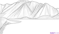 draw mountains step mountain drawing sketch cartoon drawings landscapes rocks easy simple landscape range pencil steps papa dragoart kantri posted
