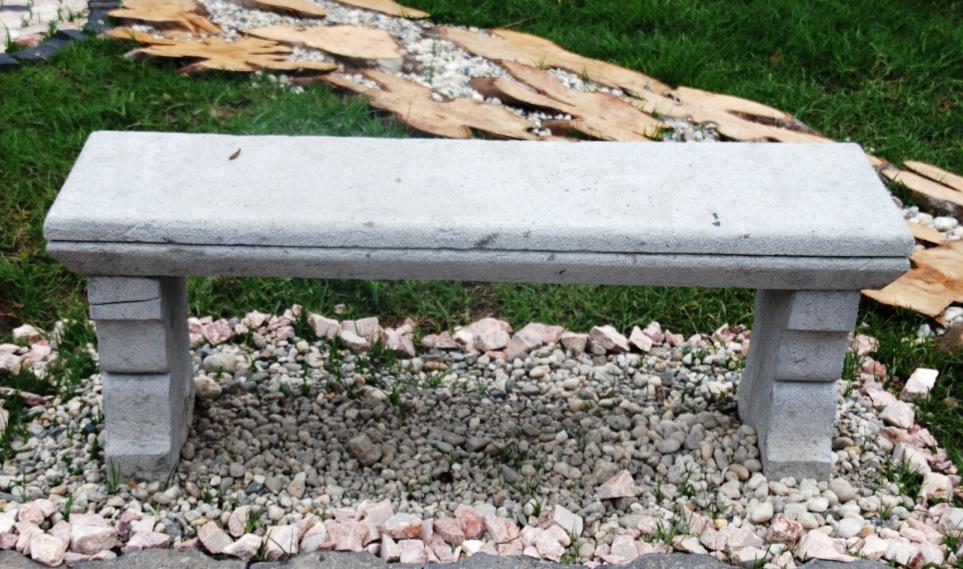 Bancos de jardin de piedra simple conjunto de mesa - Mesas de piedra para jardin ...