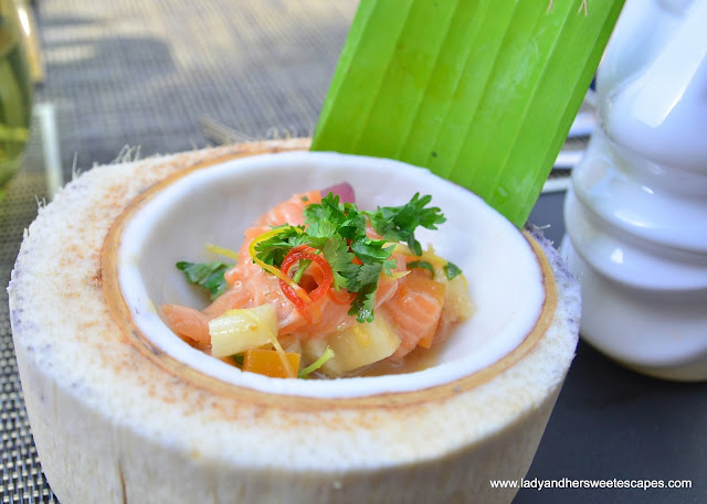 Tahiti ceviche at Lapita's Daycation Brunch