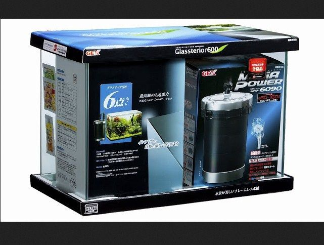 Harga Aquarium Gex Glassterior Slim 600