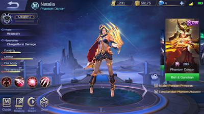 Skin Starlight Natalia Mobile Legends: Bang Bang Indonesia