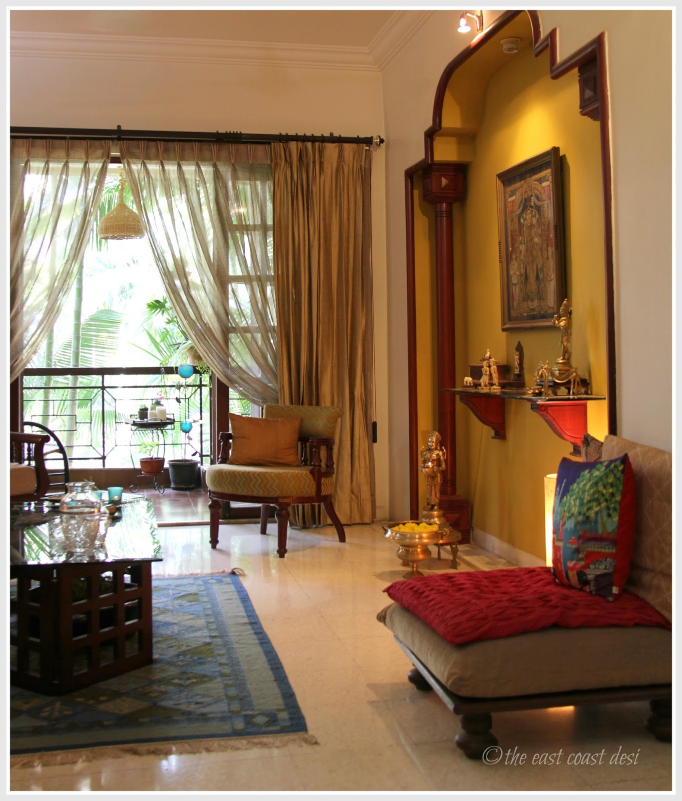 The east coast desi living with what you love home tour for Living room interior design india