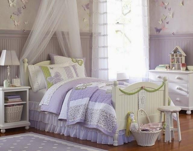 dormitorio niña mariposas
