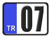 07 Antalya plaka kodu
