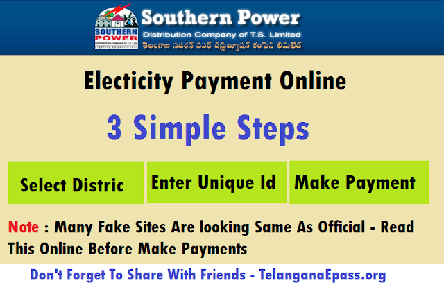 TSSPDCL Electricity Bill Payment online