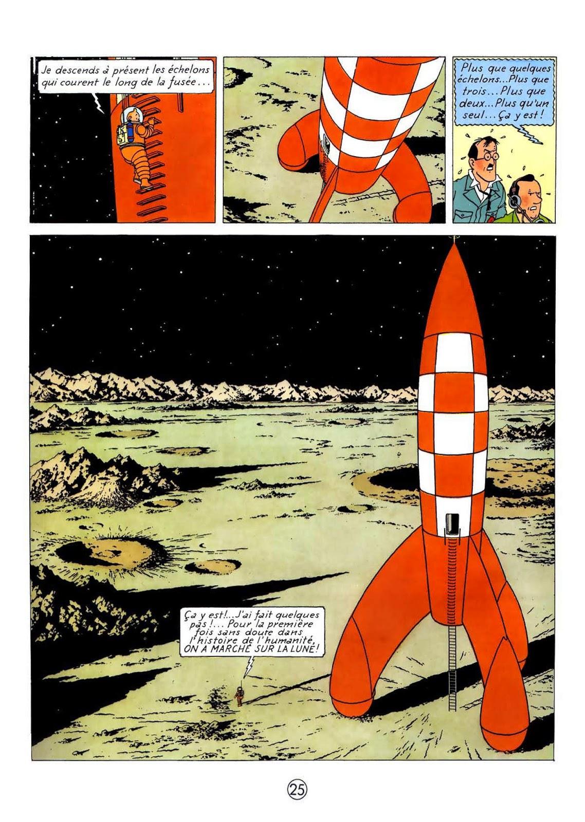 tintin on a marche sur la lune histoire des arts