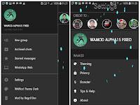 WhatsApp Mod Alpha 15 Dark Apk
