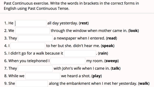 Practicamos El Pasado Continuo En Inglés The Glitter Teacher