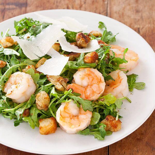 Warm Shrimp And Arugula Salad
