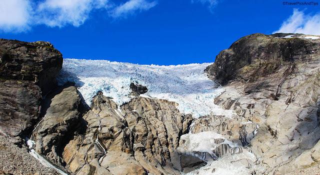 Randonnées glacier Bergsetbreen, parc national de Jostedal, Norvège