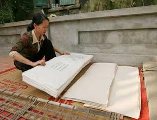 Sản xuất giấy dó