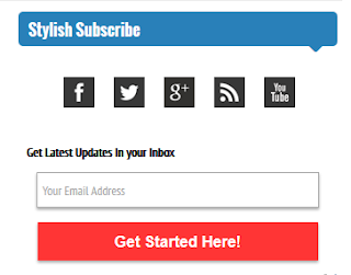 Cara Membuat Stylish Email Subscribtion Dengan Sosial Media Buttons