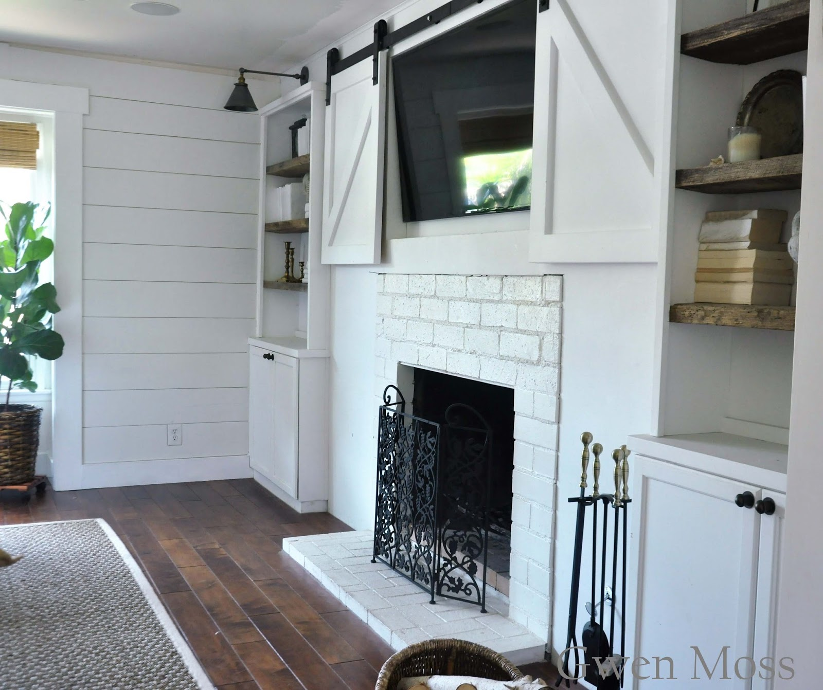 gwen moss my diy cottage style fireplace mantel reveal