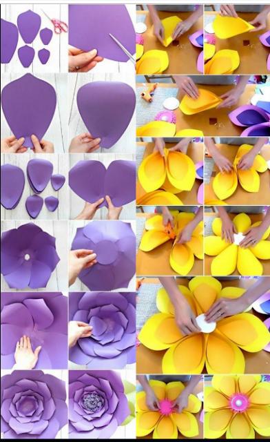 11 Tutorial Membuat Hiasan Dinding Dari Kertas Mudah Sederhana Dan Tidak Menguras Kantong
