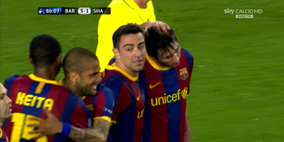 UEFA-8 : Barcelona 5 vs 1 Shakhtar Donetsk 06-04-2011