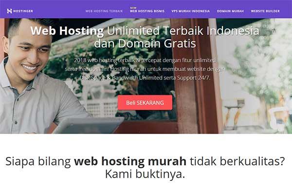 web hosting Hostinger