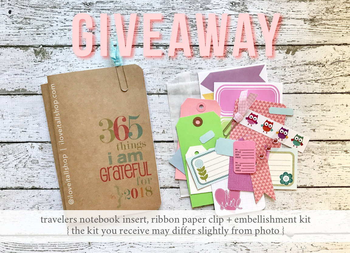 Travelers Notebook Gratitude Journal Giveaway