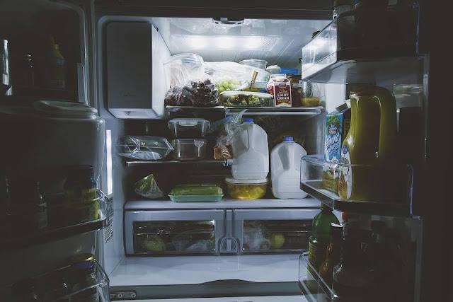 refrigerator opened