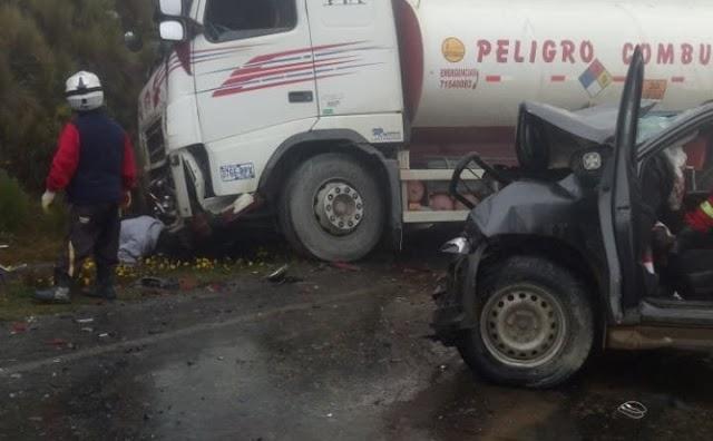 Accidente de tránsito provoca la muerte de un bebé en la carretera La Paz-Yungas