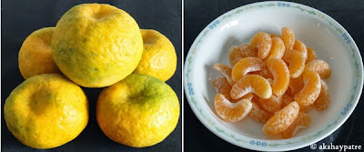 peeled and deseeded oranges