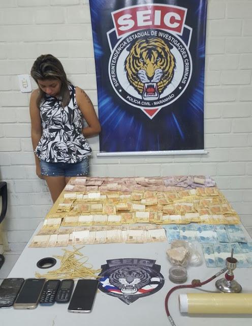 Mulher é presa em flagrante por tráfico de drogas em São Luís