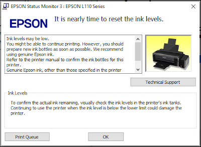 Cara Reset Ink Level Printer EPSON l300 Tanpa Software