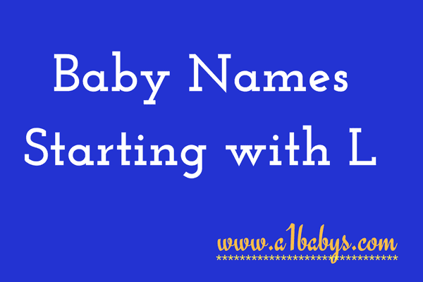 Baby Girl Names Staring With L