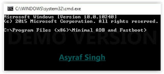Minimal ADB and Fastboot command prompt.