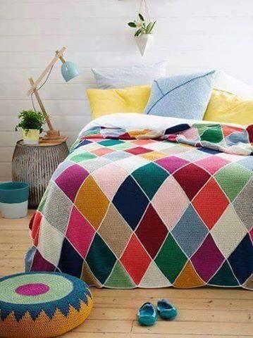 Patrón #1509: Colcha a Crochet