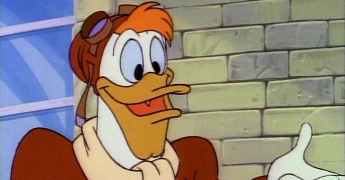 Jet McQuack, il pilota personale di Paperone in Ducktales