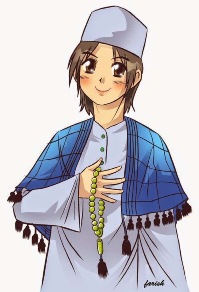 Gambar Kartun Muslim Laki Laki Gambar Kartun