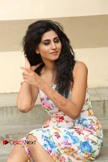 Actress Shamili Stills in Floral Short Dress at Sree Ramaraksha Song Launch 0141